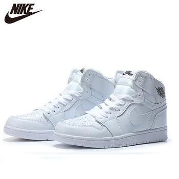 2020 NIke Air Jordan 1 męskie obuwie do koszykówki klasyczne malinowe błyskawice wszystkie białe średnie cięcie podświetlone Mans CA3011-0298 tanie i dobre opinie VN (pochodzenie) Średnie (b m) Średni podkrój RUBBER Syntetyczny Formotion Lace-up Fall2017 Pasuje prawda na wymiar weź swój normalny rozmiar