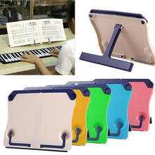 New Folding Adjustable ABS Desktop Sheet Music Stand Holder Table Top Cook Book Stand(China)