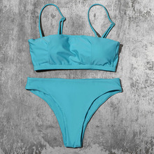Push-Up Bikini Swimsuit Padded-Bra Women Biquini Straps Mid-Waist Ztvitality Solid New-Arrival