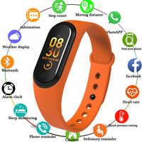 M4 Color Screen Smart Wristband Sport Fitness Bracelet Blood Pressure Oxygen Activity Tracker For Men Women watch