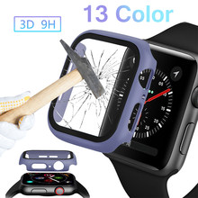 PC Cover for Apple Watch band 5 4 44mm 40mm watch Case tempered glass Screen Protector 42mm 38mm Bumper for iwatch Series 3 2 1(China)
