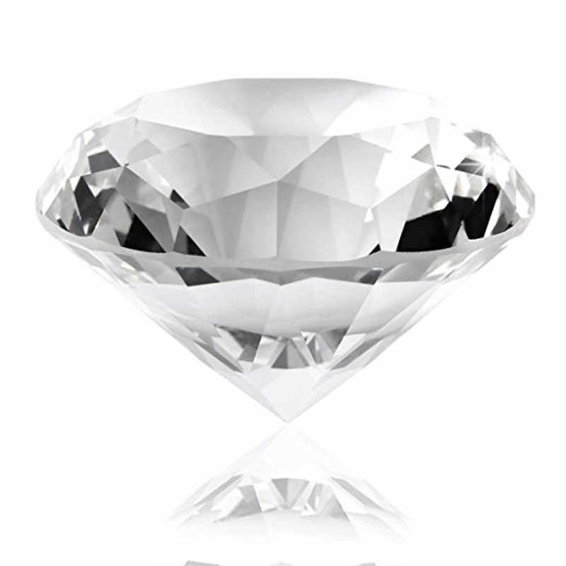 60mm/2.36inch Clear Crystal Diamond Glass Diamond Paperweight Wholesale Transparent Home Decoration Accessories