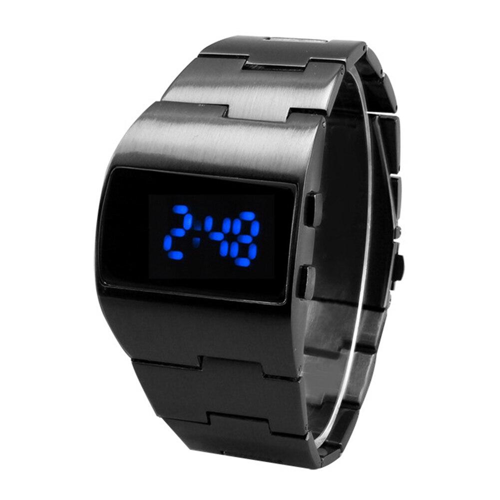 Men Women LED Display Gift Digital Watch Portable Adjustable Electronic Cool Business Iron Man Fitness Decoration Bracelet