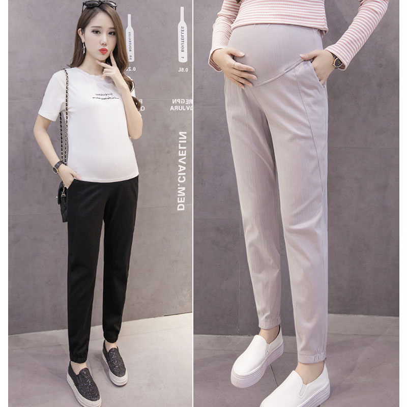 Autumn Sports Trousers Maternity Pants For Pregnant Women Clothes Casual High Waist Soft Pregnancy Pants Maternity Clothing