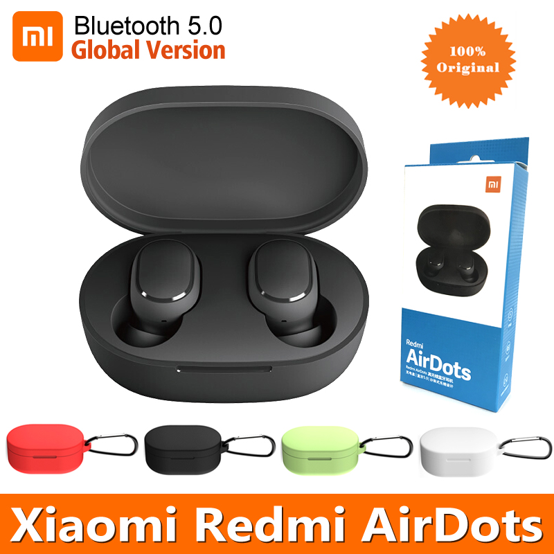 Xiaomi Redmi Airdots Original Xiaomi Wireless Earphone TWS Global Version Voice Bluetooth 5.0 Noise Reduction With Mic Control