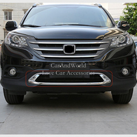 For Honda CR V CRV 2012 2013 2014 ABS Chrome Front Down Grilles Cover Frame Trim Bumper Decoration Strip Molding Car Accessories