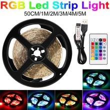 Tira de luz Led USB, tira de neón RGB, 2835 SMD, Flexible Rgbw DC 5V, banda de lámpara Led, iluminación de fondo de TV de PC