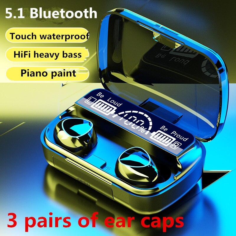 Беспроводные наушники Bluetooth Tws 5,1 с шумоподавлением, Игровые наушники-вкладыши с микрофоном, Hi-Fi наушники со светодиодный ным дисплеем, наушн...