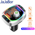 JaJaBor Bluetooth 5,0 автомобильный комплект беспроводной fm-передатчик громкой связи Автомобильный MP3-плеер с PD18W QC3.0 быстрая зарядка автомобильное з...