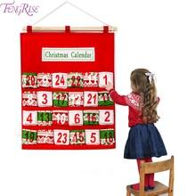 FENGRISE Christmas Advent Calendar Bag Hanging Christmas Decoration For Home 2019 Christmas Ornaments Xmas Navidad New Year 2020 все цены