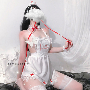 Image 1 - Nurse Erotic Costume Maid Uniform Cosplay Lingerie Women Role Play Lingerie Hot Sexy Uniforms For Girls 5pcs Piece/Set