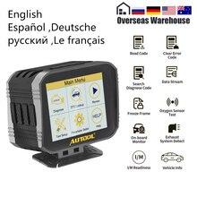 AUTOOL – afficheur tête haute X80 HUD pour voiture, lecteur de Code de Diagnostic OBD2, compteur de vitesse, consommation de carburant, température de leau