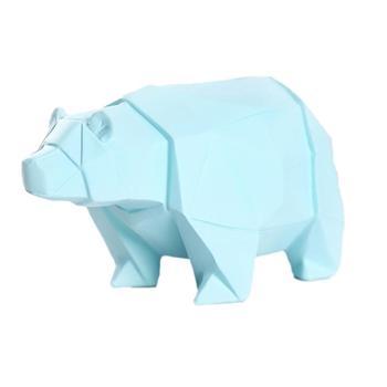Hucha Oso Polar de Resina Azul