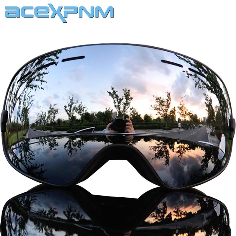 2019 Brand Ski Goggles Double Layers UV400 Anti-fog Big Ski Mask Glasses Skiing Men Women Snow Snowboard Goggles Professional