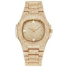 Женские часы роскошные модные разноцветные стразы кварцевые