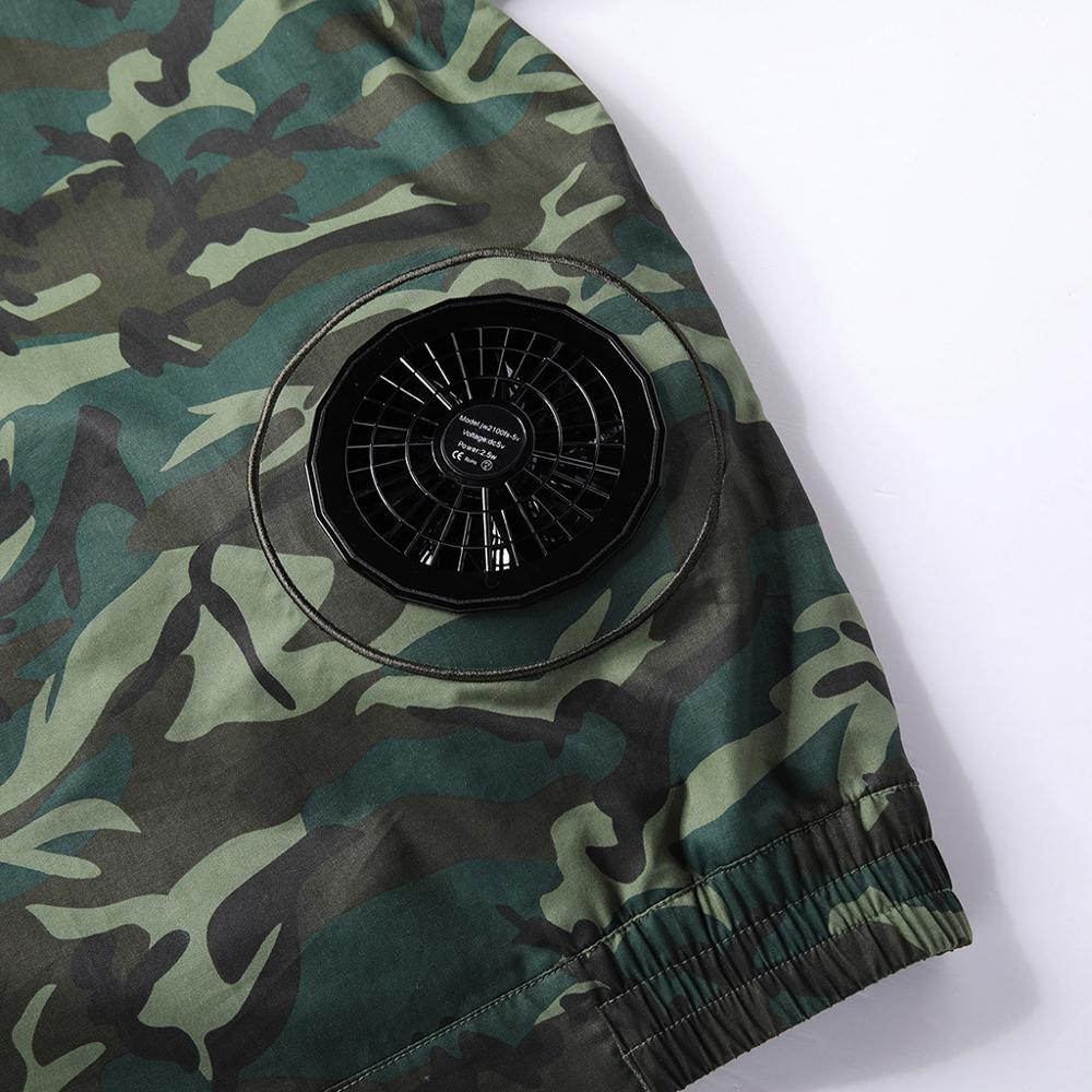 Hommes climatisation coup de chaleur contre mesures extérieur vestes vêtements de travail grande taille Camouflage imprimé imperméable manteau - 5