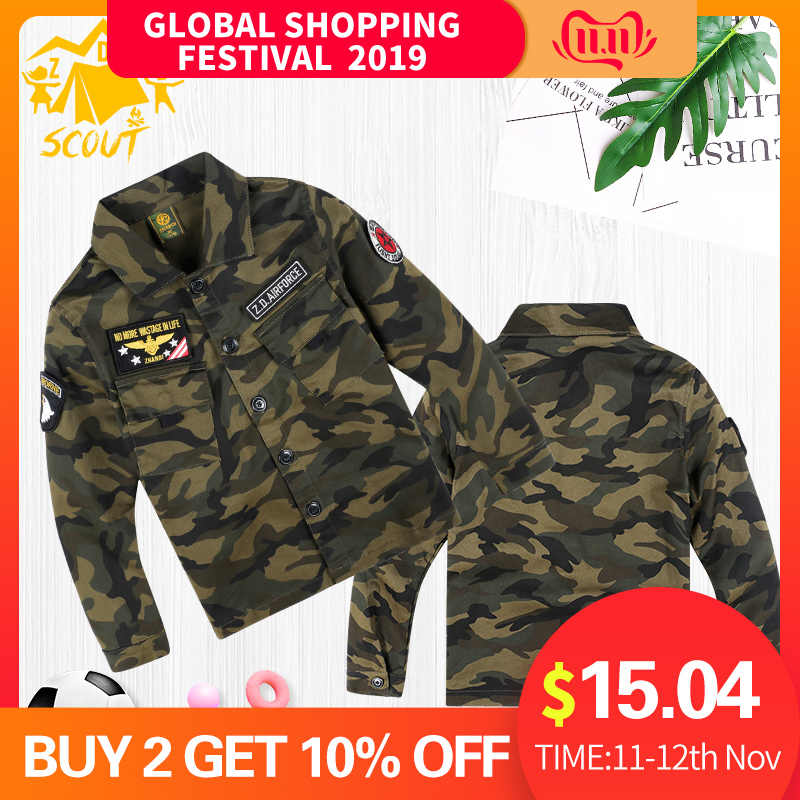 Spring and Autumn Trends Children's Wear Tops Kids Handsome Fashion Clothes Children Camouflage Baby Boy Jacket Jacket