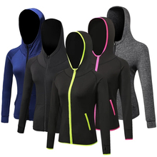 Women Running Jackets Long Sleeve Jogging Sweatshirt Ladies Yoga Sports Zipper Jacket Coat Fitness Gym Shirts Women's Hoodie недорого