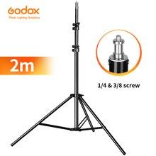 Heavy Duty מתכת 2m אור Stand מקסימום עומס כדי 5KG חצובה עבור תמונה סטודיו Softbox וידאו פלאש רפלקטור תאורת רקע Stand