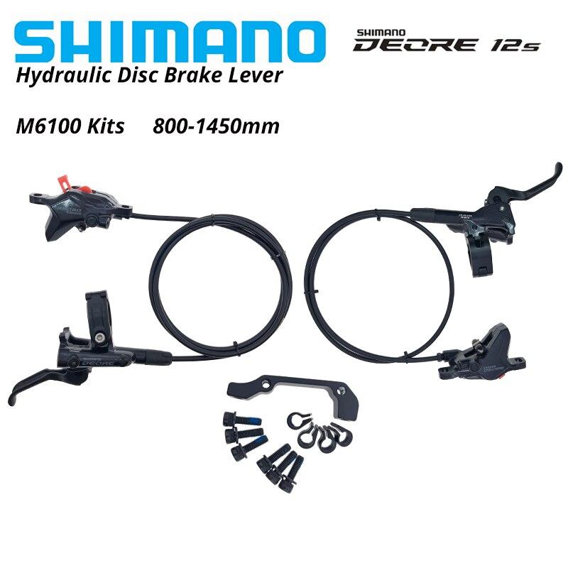 Shimano Deore M6100 BL M6100 тормозной рычаг для велосипеда mtb Гидравлический дисковый тормоз I SPEC EV набор зажимных роторов передние/задние тормоза Велосипедный тормоз      АлиЭкспресс