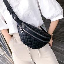 Women Waist Packs Leather Fanny Belt Bags