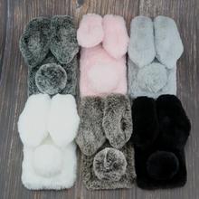 Rabbit Fur Case For Huawei Enjoy 9 9S Honor 20 10 20i 10i 4A 4C 4X 5C X 6A 7A 9X Pro Lite 6X GR5 GR3 2017 Bunny Doll Cover