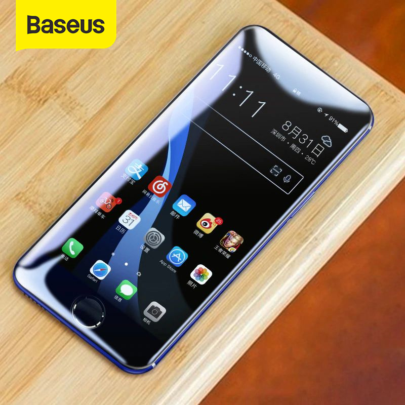 Baseus Tempered Glass For IPhone 7 7 Plus 8 8 Plus Screen Protector 0.23mm Thin 3D Full Screen Protector For IPhone 7 8 Glass