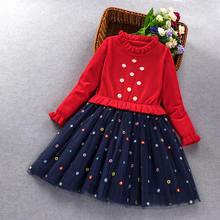 Платье Свитер для маленьких девочек наивысшего качества на Новый