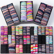 Girls Candy Colors Nylon 2cm 3cm Rubber Bands Children Safety Elastic Hair Ponytail Holder Kids Accessories hair ties