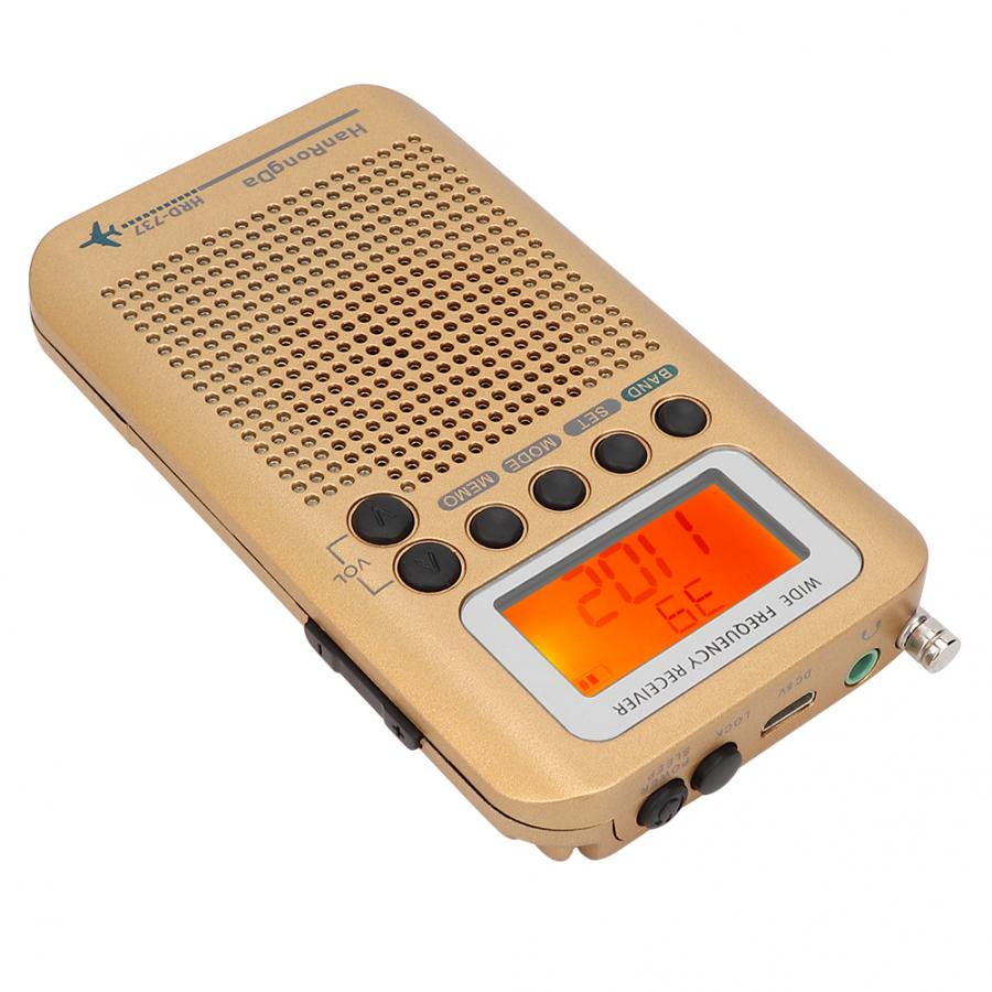 Récepteur radio fm multifonction toutes bandes pour récepteur Radio numérique à réduction de bruit de la bande Air/FM/AM/SW/VHF/CB