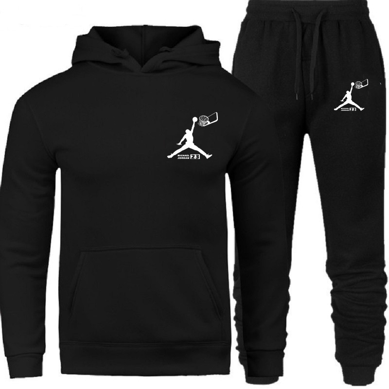 Men's Fashion Tracksuit Casual Sportsuit Men Hoodies/Sweatshirts Sweatpants JORDAN 23 Print Jogger Suit Men Set Brand Clothing