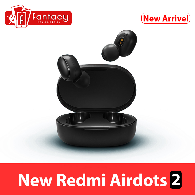 Global Version  Xiaomi Redmi AirDots 2 Bluetooth 5 0 Earphone TWS Mi True Wireless Earbuds Basic 2 Headset Auto Link Game Mode