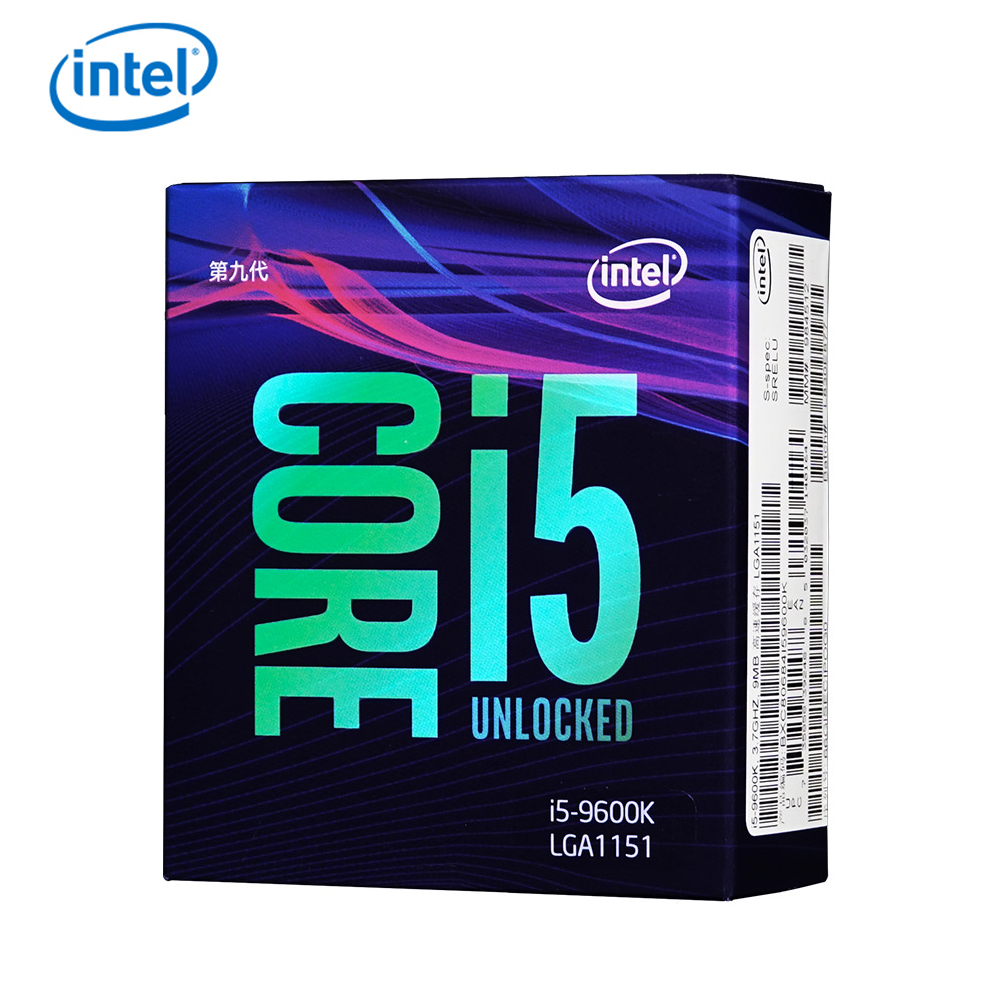 Intel Core I5-9600K Desktop Processor 6 Cores Up To 3.7 GHz Turbo Unlocked LGA1151 300 Series 95W