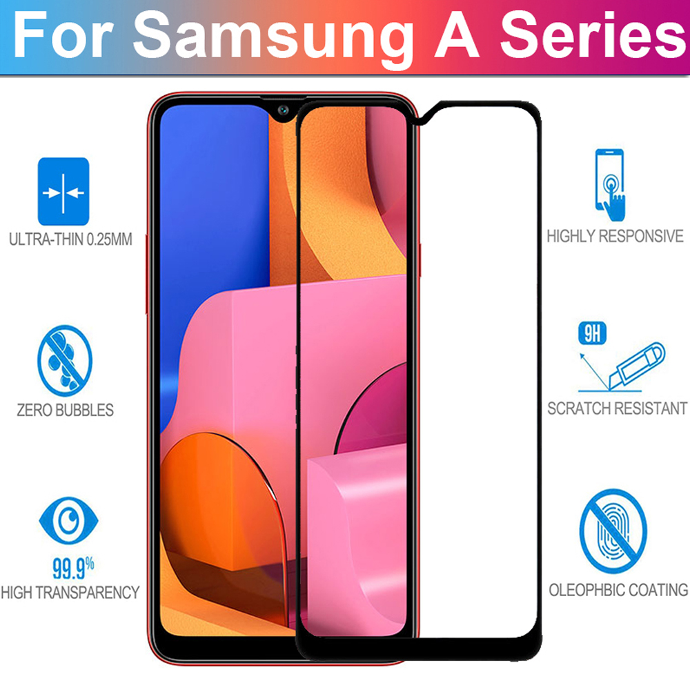 full cover <font><b>tempered</b></font> <font><b>glass</b></font> for <font><b>samsung</b></font> galaxy A20S A90 A80 A70 A60 A50 A40 A30 A20 <font><b>A10</b></font> phone screen protector protective <font><b>glass</b></font> image
