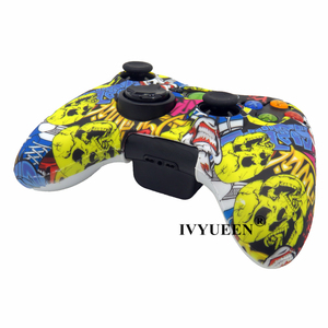 Image 4 - IVYUEEN Water Transfer Printing Protective Skin for Microsoft Xbox 360 Wired / Wireless Controller Silicone Case Cover Caps