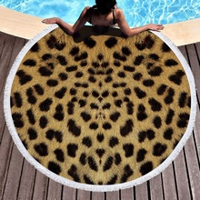 Summer Microfiber Towels Beach Printed Round Beach Towel Large Blanket Picnic Mat Sunbath Bath Towel Tablecloth Toalla De Playa 2019 geometric patterns summer round beach towel with tassels beach covers bath towel picnic yoga mat for adult toalla de playa