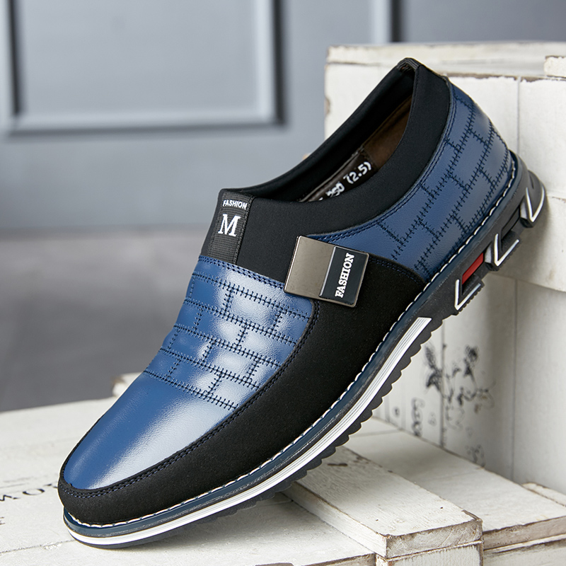 Shoes Men New Genuine Leather Men Casual Shoes Brand Mens Loafers Moccasins Breathable Slip On Black Driving Shoes Plus Size