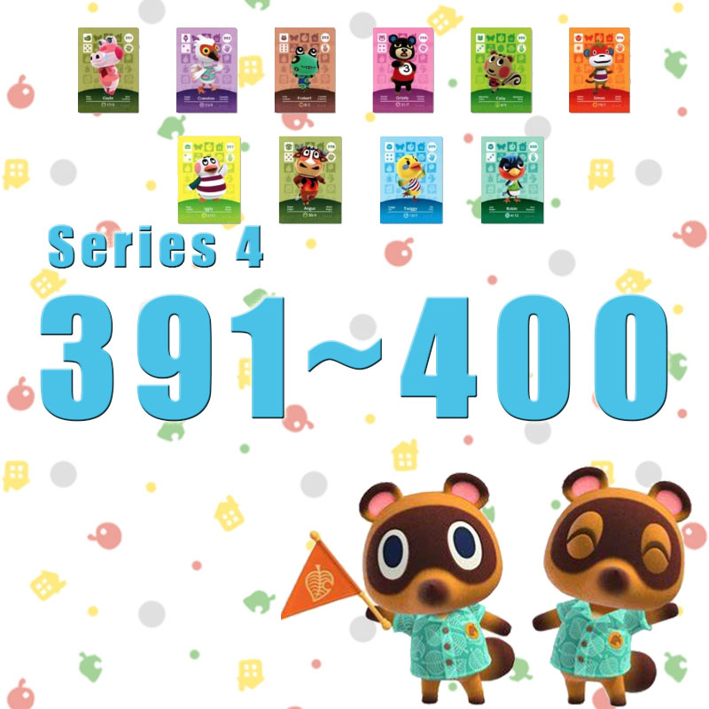 Amiibo Animal Crossing New Horizons Amiibo Card Set Work For NS Switch Games Series 4 (391 To 400)
