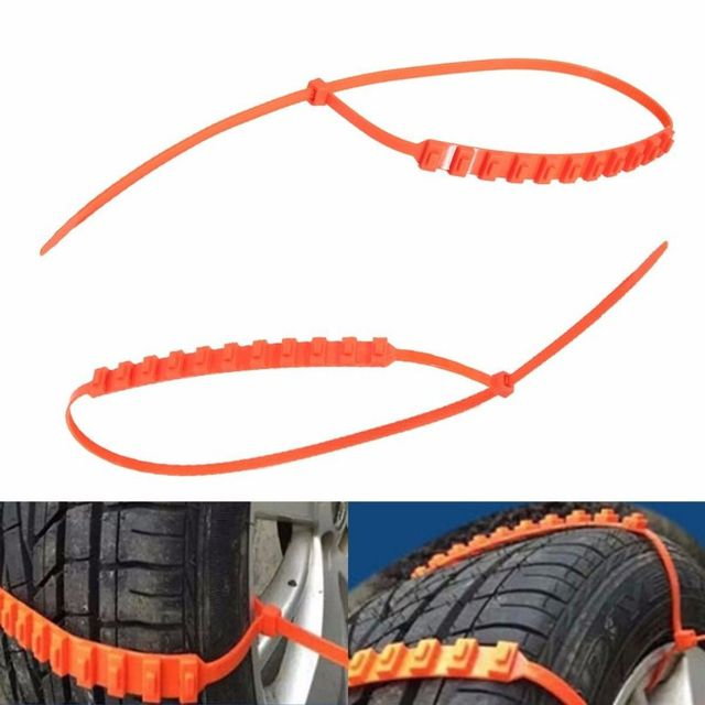 10Pcs Car Winter Tire Wheels Snow Chains Snow Tire Anti-skid Chains Wheel Tyre Cable Belt Winter Outdoor Emergency Chain STC01 2