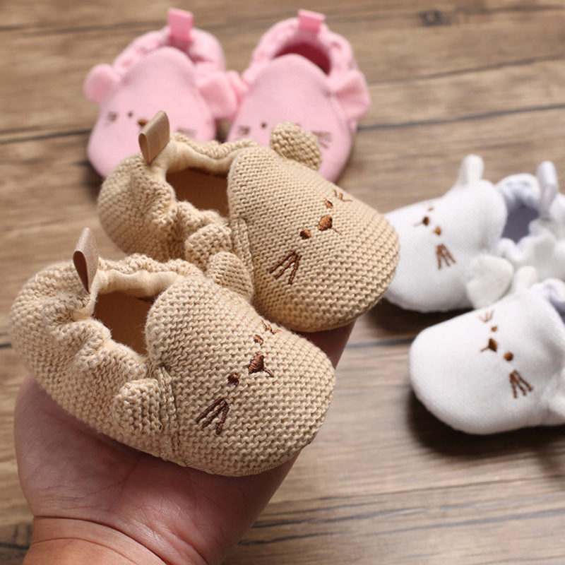 Baby Shoes Boy Girls First Walkers Soft Infant Toddler Shoes Cute Flower Soles Crib Shoes Footwear For Newborns 0-18 Months