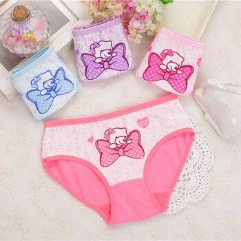 4Pcs Lot New Arrive Kids Underwear Cotton Baby Girl Panties Children's Briefs Cartoon Designs Shorts 2 To 10 Years ZL15 - discount item  10% OFF Children's Clothing