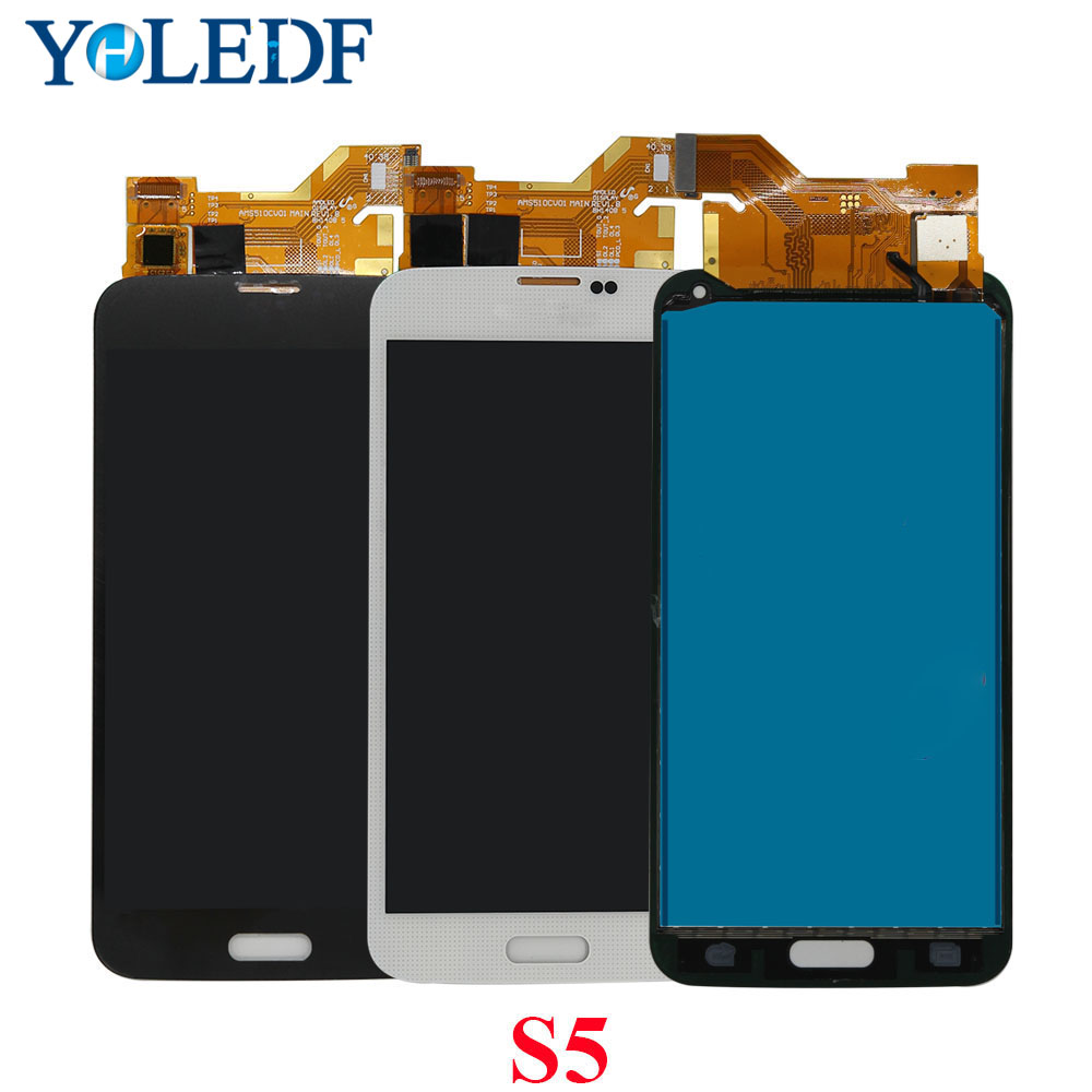 Heinuo <font><b>LCD</b></font> Screen For Samsung S5 I9600 <font><b>SM</b></font>-G900 G900A <font><b>G900F</b></font> G900P G900T <font><b>LCD</b></font> Display Tela Panel Digitizer Assembly Replace Parts image