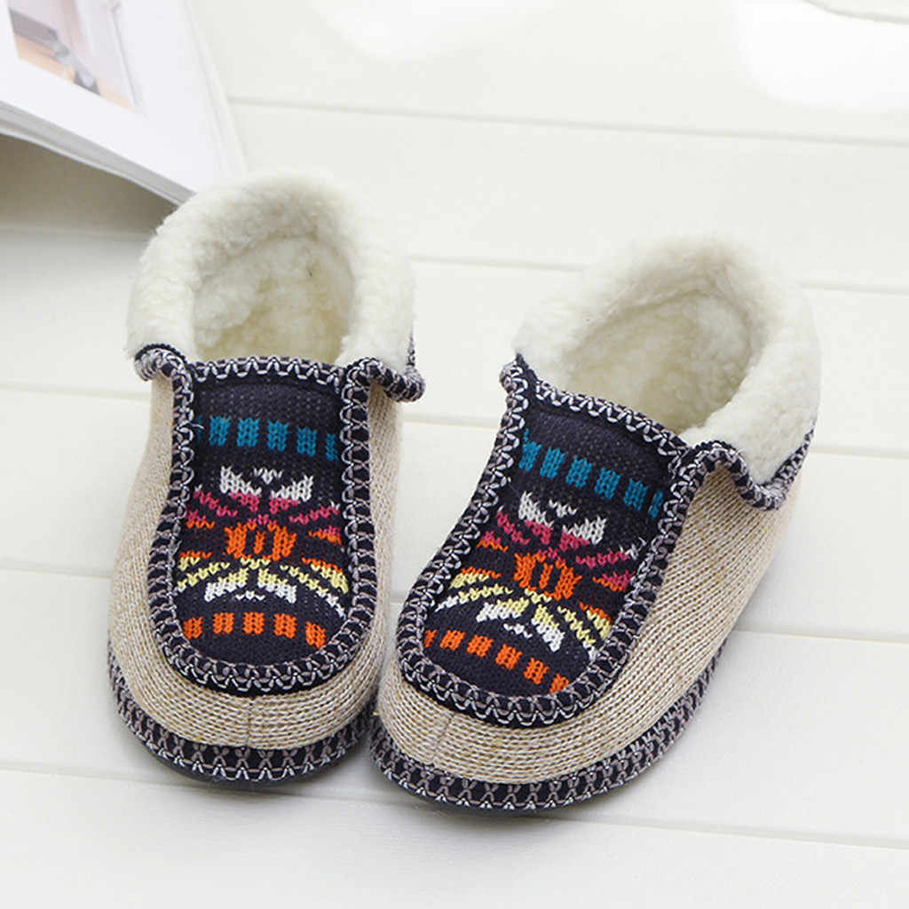 Women Boots ladies Ankle Boots Autumn winter Shoes women snow boots Plus Size Knitted Flowers Warm Cotton Shoes Short Boots #828