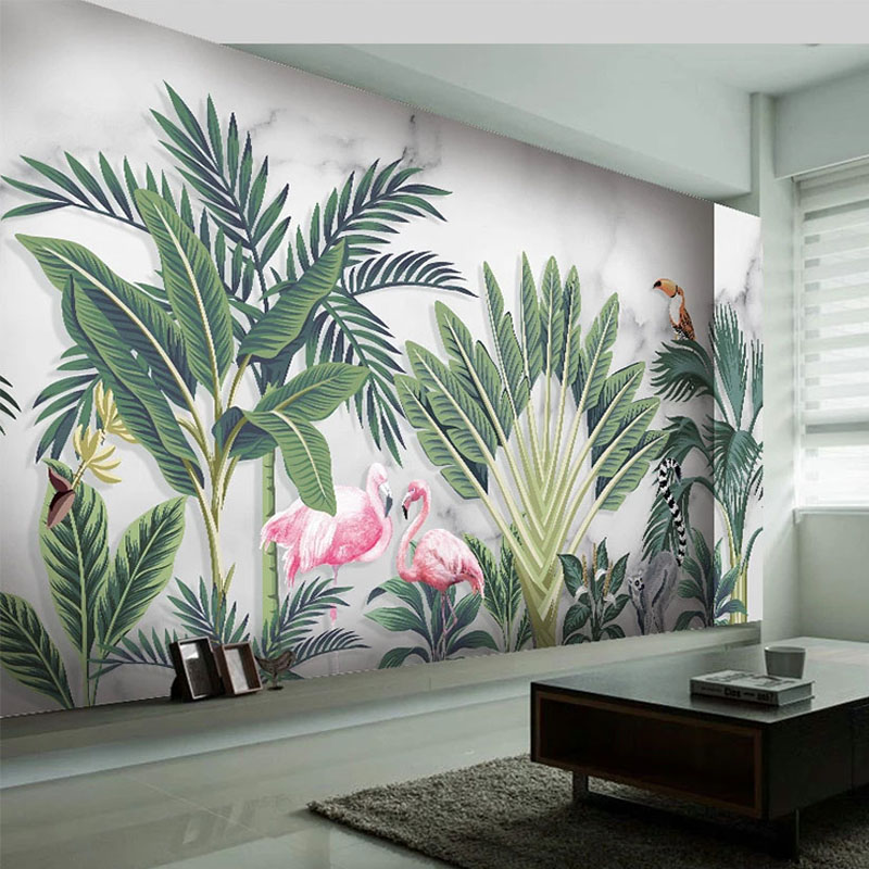 Custom Photo Wallpaper Modern Hand Painted Tropical Leaf Rainforest Murals Living Room Bedroom Home Decor Wall Painting Frescoes Wallpapers Aliexpress Bring some tropical shine to your home with this easy diy gold leaf art print. custom photo wallpaper modern hand painted tropical leaf rainforest murals living room bedroom home decor wall painting frescoes