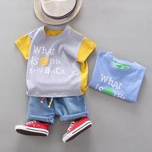 Baby Jungen Mädchen Tuch Sommer Kinder Baumwolle Gedruckt T Shirts Shorts 2 Teile/sätze Infant Outfit Kinder Mode Kleinkind Trainingsanzug SET