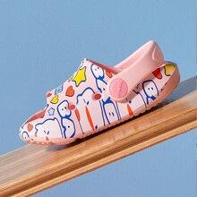 POSEE EVA Children Home Bathroom Slippers Girls Soft Sole Slides Summer Cute Sandals Non-Slip On Flats Indoor Shoes QW3135