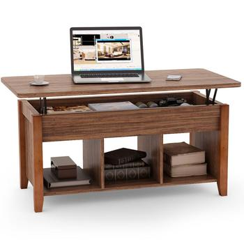 Lift-Top Coffee Table With Storage & Open Shelf Modern Living Room Furniture Hot mc2102b modern living room furniture marble top tea table coffee table with drawer