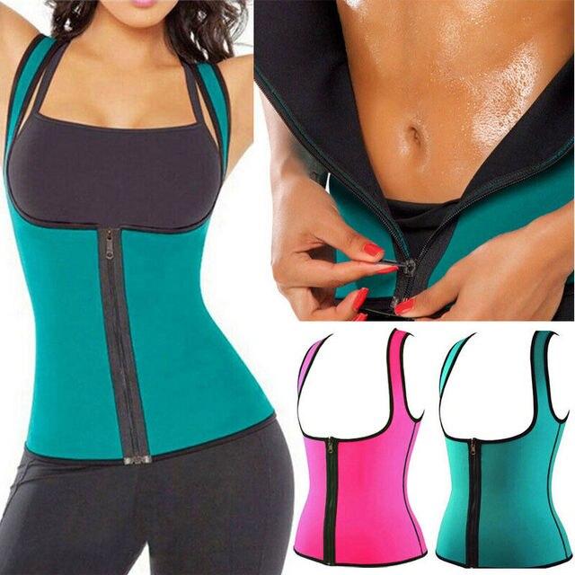 Womens Hot Sweat Sauna Neoprene Body Shaper Slimming Waist Trainer Slim Belt Gym 1