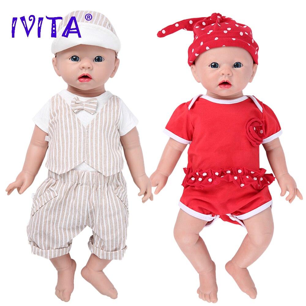 IVITA WG1519 48cm 3700g Realistische Silikon Reborn Baby Puppen Neugeborenen Baby Lebensechte Haut Weiche Frühen Bildung Spielzeug für kinder