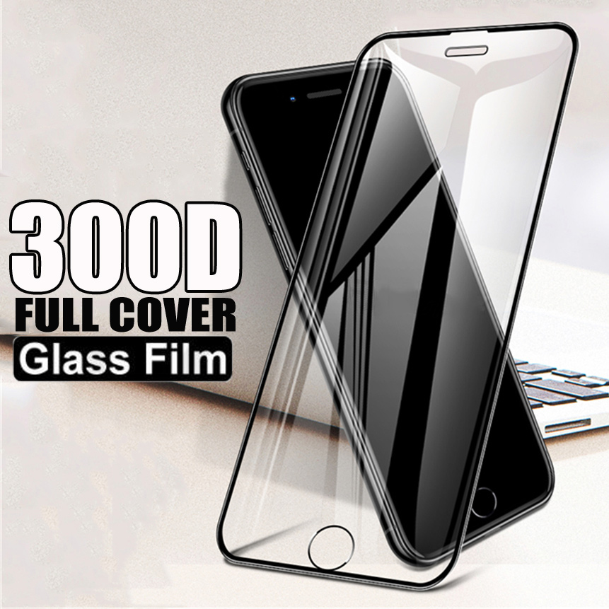 <font><b>300D</b></font> Curved Edge Protective Tempered Glass On The For iPhone 6S 6 7 8 Plus X XR Glass 11 11Pro Xs Max Screen Protector Film Case image